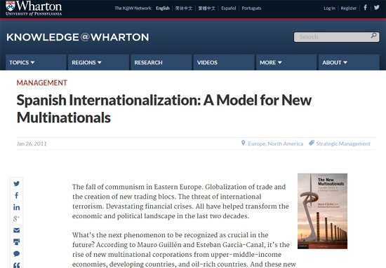 Internacionalización España