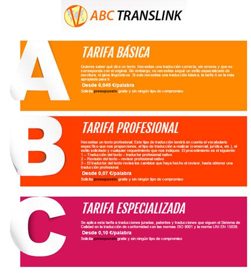 Tarifas ABC Translink